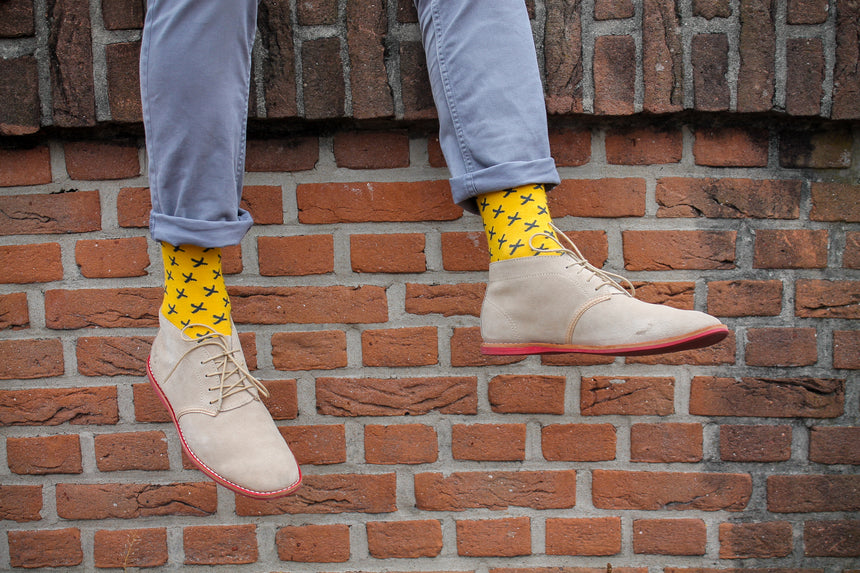 bamboo socks, slopes and town, slopes&town, bamboe sokken, heren sokken, mens socks, yellow socks, gele sokken, socks netherlands