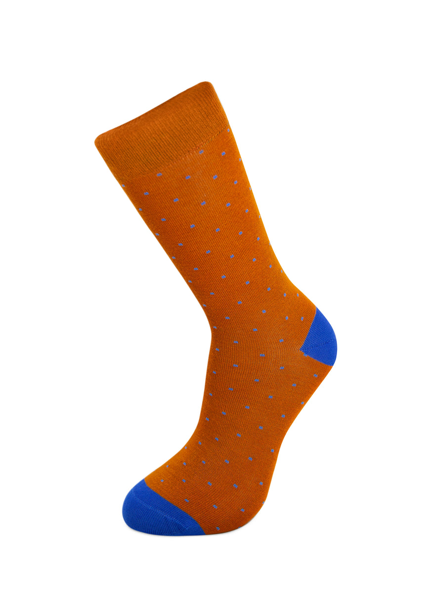 Camel Brown Dots Bamboo Socks