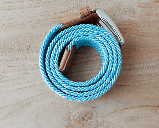 blue belt, braided belt, slopes and town, slopes&town, blauw riem, elastic belt, elastisch riem