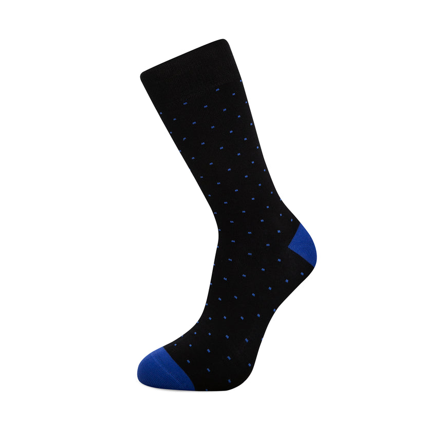 Black with Blue Dots Bamboo Socks