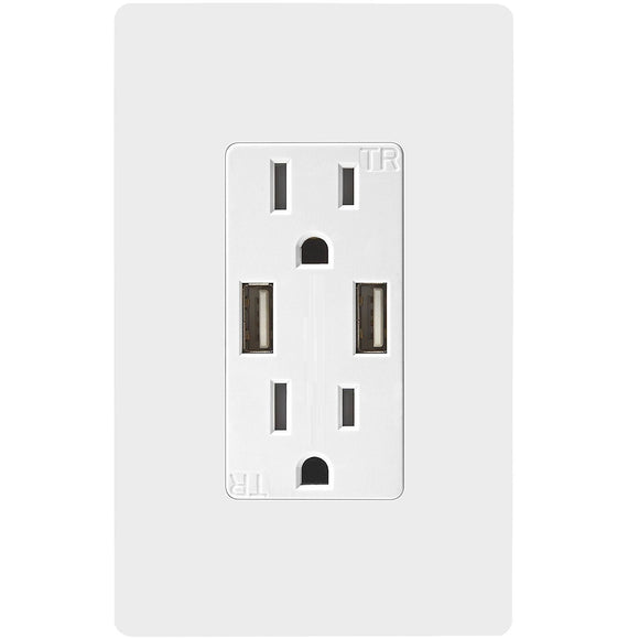 SK100 Wall Socket with Fast Charging USB - digitalhome.ph