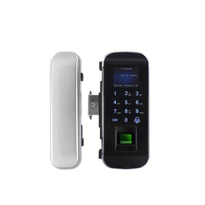 DH301 Smart Glass Door lock with Remote Control, Pincode, Fingerprint and RFID Access - digitalhome philippines