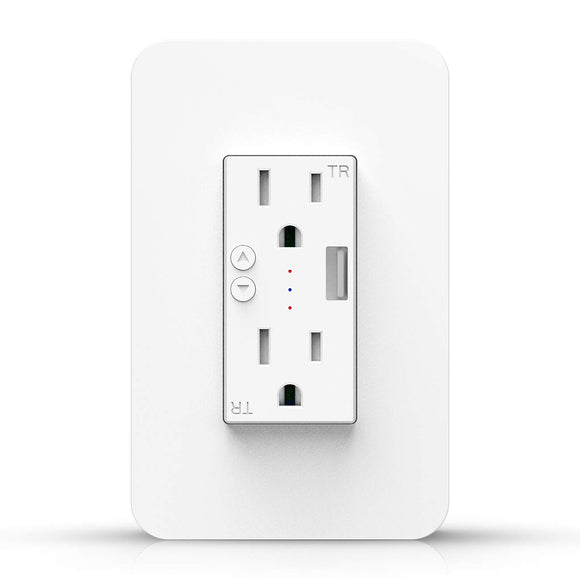 SP300 Smart Wall Socket with USB (Works with Home & Alexa)