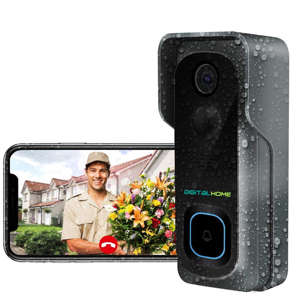 DB300 Waterproof Smart Video Doorbell (works with Alexa and Home) - digitalhome philippines