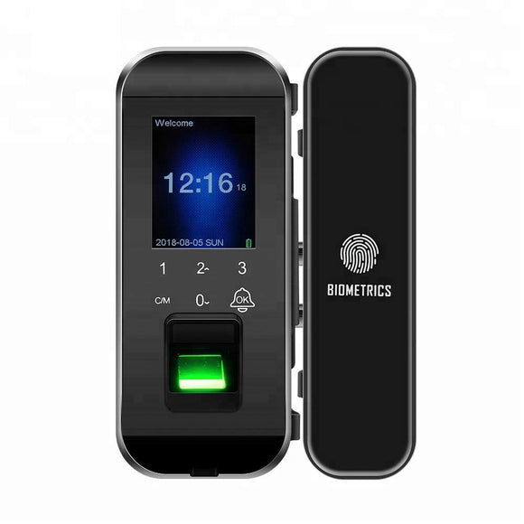 DH300 Glass Door Smart Lock with Fingerprint Access - digitalhome philippines