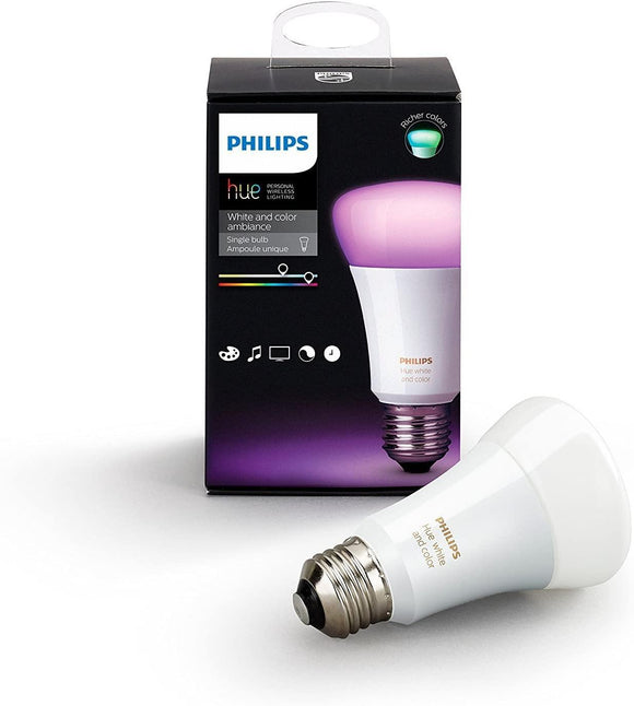Philips Hue White and Color Ambiance Equivalent Dimmable LED Smart Light Bulb (Works with Alexa, Apple HomeKit, and Google Home) - digitalhome philippines