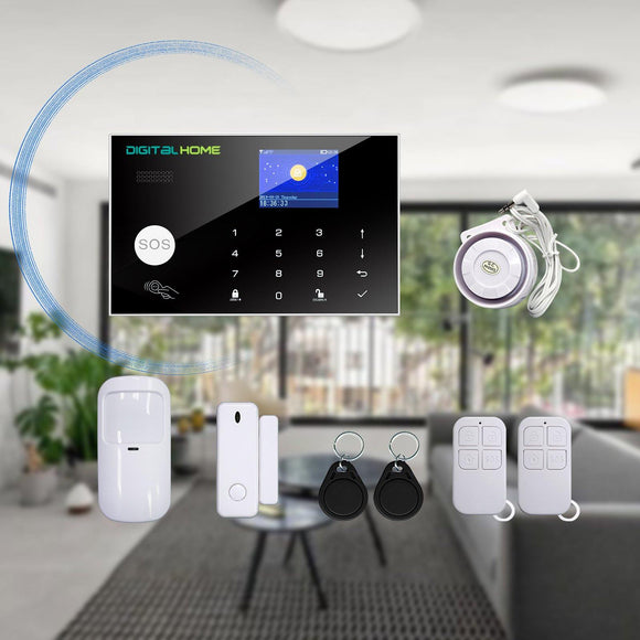 AS300 4G/GSM Smart Alarm System with LCD Control Panel - digitalhome.ph