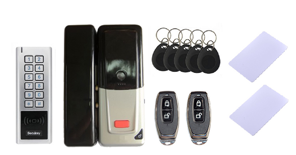 GT200 Smart Lock for outdoors (RFID card, skey, remote control and keypad) - digitalhome.ph