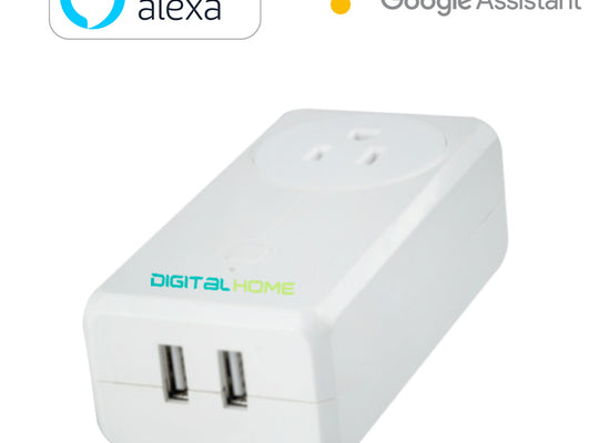 DigitalHome Smart Plug with 2 fast charging USB (Works with Home & Alexa) - digitalhome philippines