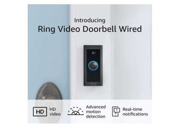 DBR110 Hardwired Ring Doorbell with Chime (Works with Alexa ang Google Assistant) - digitalhome.ph