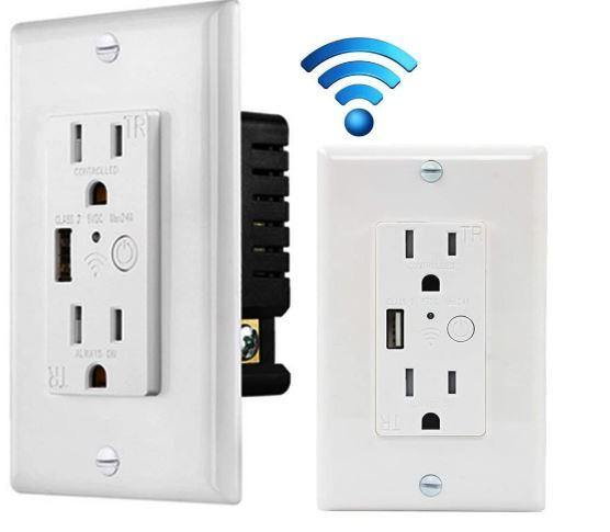 SP310 Smart Wall Socket with USB (Works with Alexa & Google Assistant) - digitalhome.ph