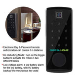DH200 Smart Deadbolt Lock with Fingerprint Access - digitalhome philippines