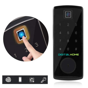 DH200 Smart Deadbolt Lock with Fingerprint Access - digitalhome.ph