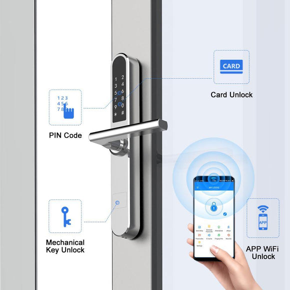DH401 Slim Smart Lock for Aluminum-Framed Door - digitalhome.ph