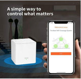 TEN100 Tenda Whole Home Mesh Wi-Fi System - Dual Band AC1200 Router Replacement for Smart Home, Works with Amazon Alexa for 4500 sq. ft 5+ Room Coverage (MW3 3PK) - digitalhome philippines