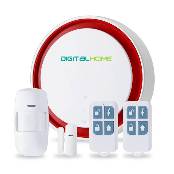 AS200 Remote Control Alarm Security with Mobile App and SMS Notification (Works with Alexa and Google Assistant) - digitalhome.ph