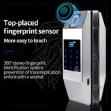 GL100 Smart Glass Door Lock with Fingerprint and Smartphone Access - digitalhome philippines