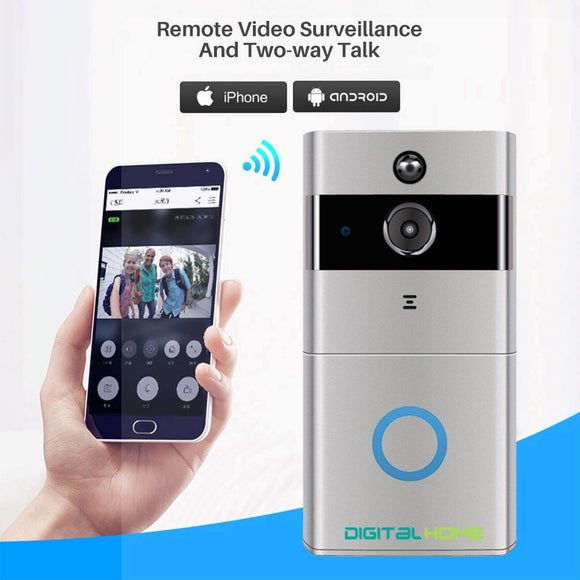 DigitalHome Smart WiFi Video Doorbell (Silver) - digitalhome philippines
