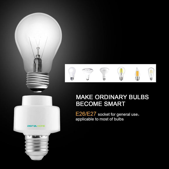 BH100 Smart Bulb Holder (works with Alexa and Google Assistant) - digitalhome philippines