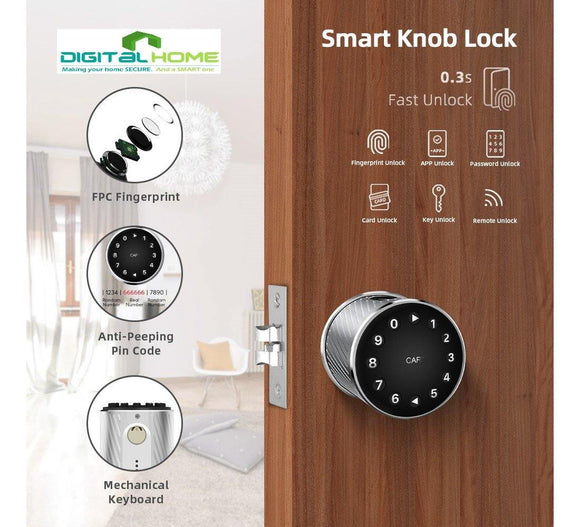 MT400 Fingerprint Knob Smart lock - digitalhome philippines