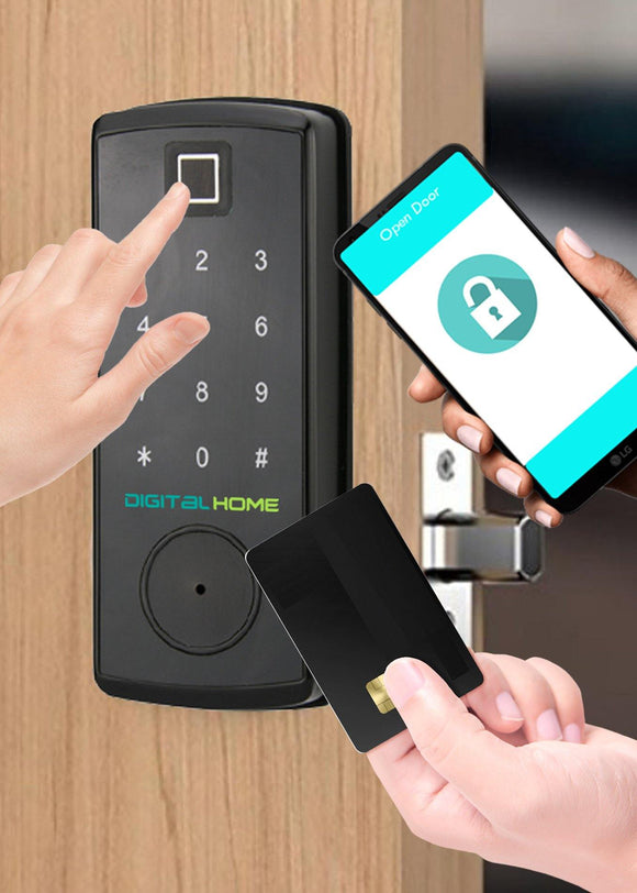 DH200 Fingerprint Deadbolt Smartlock - digitalhome philippines