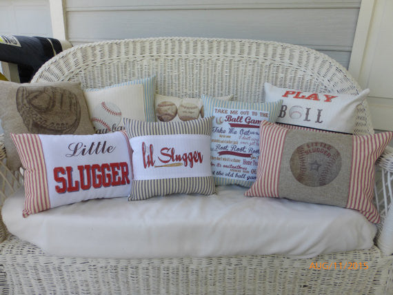 Pillows - Accent Pillows - Sports pillows - Burlap pillows - Embroidered Pillows