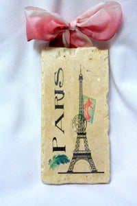 Subway tile sign - Paris pictures - Eiffel Tower - Paris Postcard - Julie Butler Creations