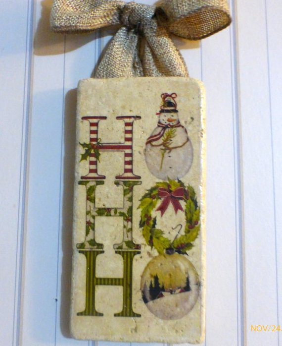 Christmas Subway Tile sign - Christmas tile sign - Christmas decoration - Julie Butler Creations