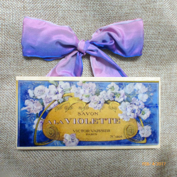 Subway tile sign - Vintage Perfume label sign - Paris tile sign -French decor - French Country - Julie Butler Creations