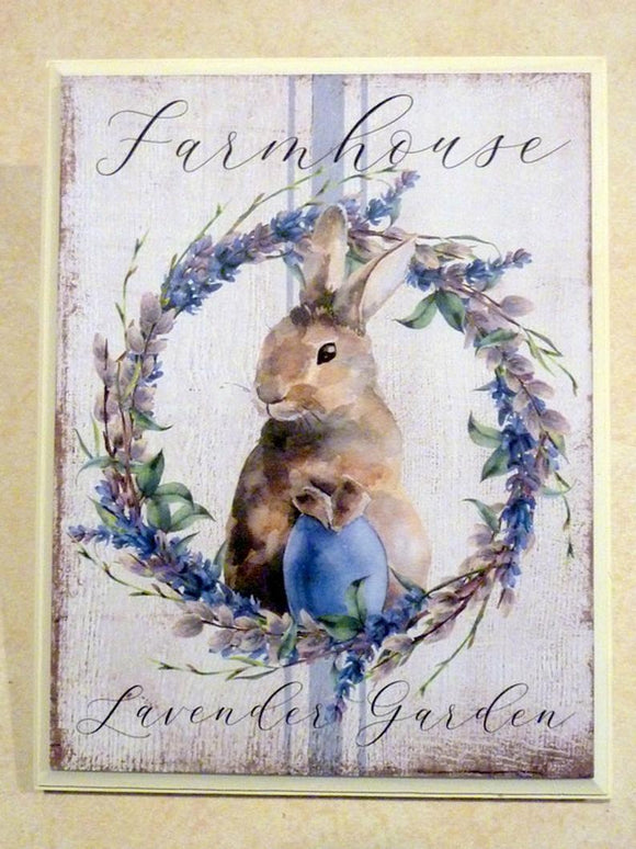Farmhouse Lavender Garden sign - Bunny sign - wood wall art - Farmhouse decor - French Country decor