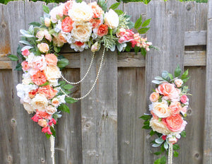 Coral Wedding Flowers Wedding Arch Wedding Arbor Decorations Wedding Decorations