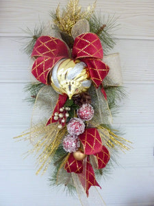 Rose Door Swags - Summer swags - Spring Wreaths - Pink Teardrop swag - French Country & Rose Door Swags - Summer swags - Spring Wreaths - Pink Teardrop swag ...