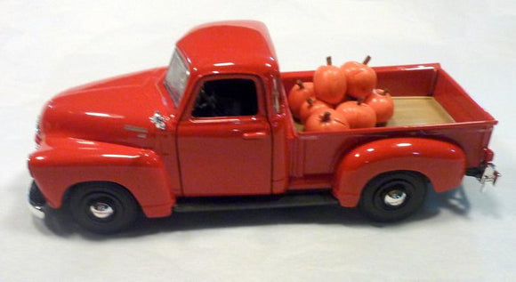 Orange Farmhouse Truck, Diecast truck decor, Pumpkin Patch Farm Truck, Farmhouse decor, Metal truck