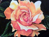Original Rose Drawing - Colored Pencil Painting - Yellow Rose Picture - Julie Butler Creations