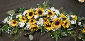 Sunflower Wedding Arch and Tiebacks, Wedding Flowers, Wedding Ar - Julie Butler Creations
