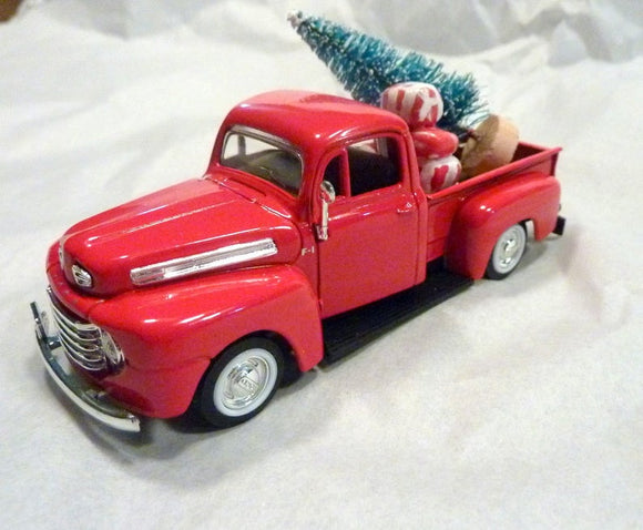 Red Farmhouse Truck, Diecast truck decor, Christmas Truck decorations, Metal truck, red truck decor