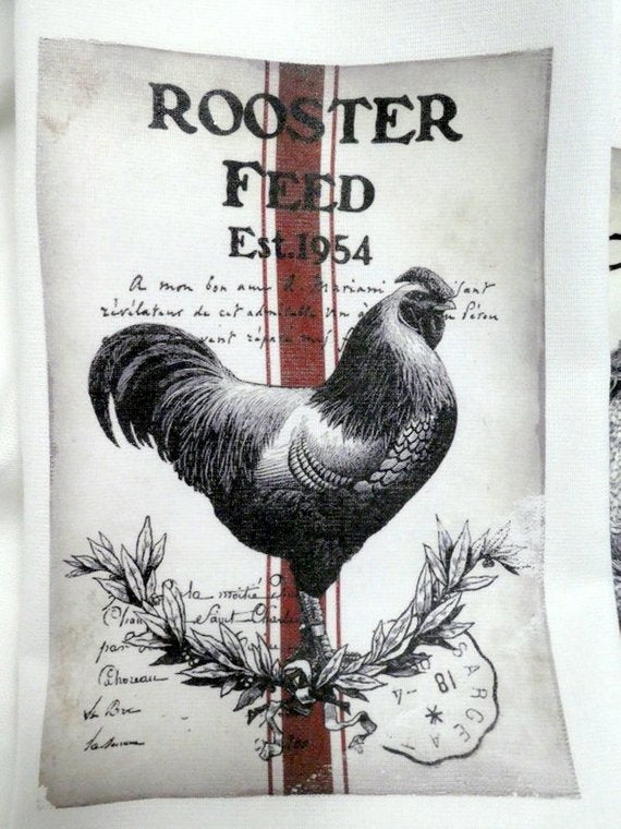 Rooster Flour Sack Towel - Kitchen towel - Hostess Gift - dish towel