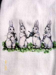 Easter towels - Flour Sack Towel - Bunny Towel - towel - Tea Towels - Kitchen towel - Hostess Gift - Julie Butler Creations
