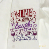 Embroidered Flour Sack Towel - Tea Towel - embroidered Towels - Kitchen towel - Julie Butler Creations