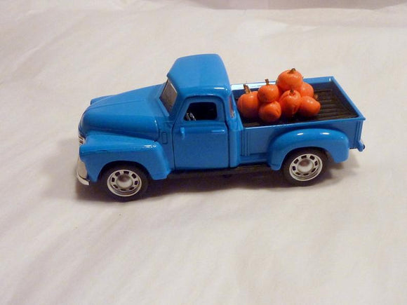 Blue Farmhouse Truck, Diecast Chevy truck decor, Farmhouse decor, Metal truck