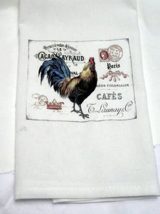 Rooster Flour Sack Towel - Kitchen towel - Hostess Gift - 100% cotton