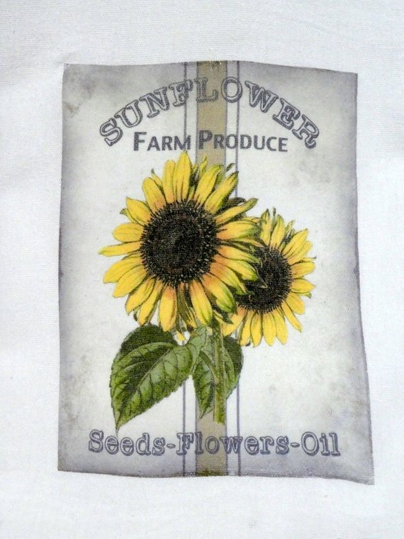Sunflower Flour Sack Towel - Kitchen towel - Hostess Gift - dish towel - Julie Butler Creations