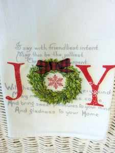 Christmas Flour Sack Towels - Kitchen towel - Hostess Gift - dish towel - Farmhouse Christmas towel