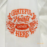 Thanksgiving towels - Embroidered Flour sack towels - Tea Towel - embroidered Towels - Kitchen towel - Julie Butler Creations