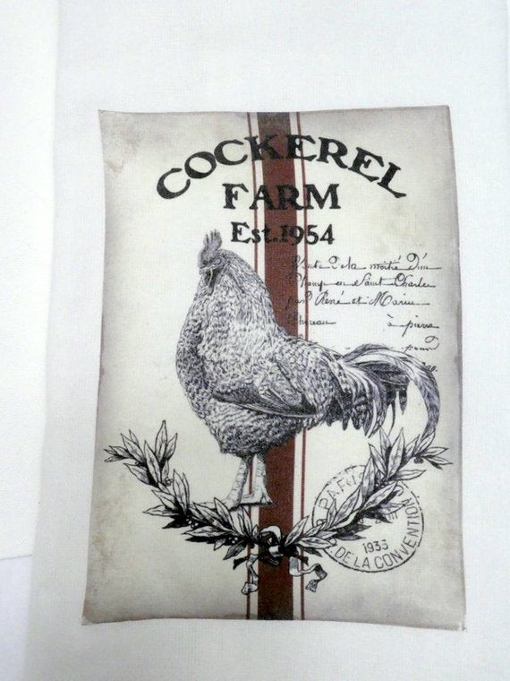 Rooster Flour Sack Towel - Kitchen towel - Hostess Gift - dish towel - 100% cotton - Cockerel Farm