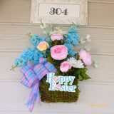 Easter Floral Arrangement - Spring Easter wall pockets - wall pockets - Easter decorations - Julie Butler Creations