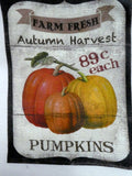 Fall Pumpkin Towel - Autumn Tea Towel - Flour Sack Towel - Kitchen towel - Hostess Gift - dish towel - Julie Butler Creations