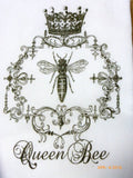 Queen Bee Towel - Flour Sack Towel -Paris Kitchen towel - Tea towel -kitchen towel - Julie Butler Creations
