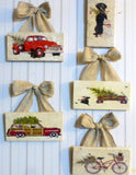 Christmas subway tile sign - Christmas gift - Julie Butler Creations