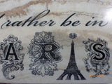 Paris subway tile sign - Paris - French decor - Id Rather Be in Paris - Eiffel Tower - Julie Butler Creations